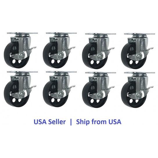 3 inch Swivel Caster Wheels Solid 334