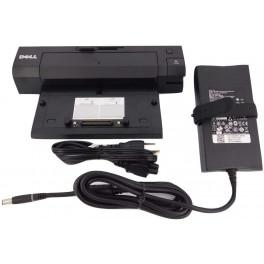 dell e-port plus docking replicator pr02x e6420 e6430 k09a cy640 + 130w adapter