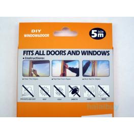 1 box self adhesive home window door seal Insulation brush pile Weather Strip 5m