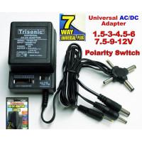 Universal ac/dc power adapter output 3V 4.5V 6V 7.5V 9V 12V 500mA 2 sony plug
